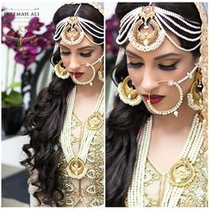 Mughal inspired bride by Fatemah Ali makeup and jewellery by Jewels n Gems