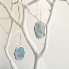 Blue quartz necklaces, gold necklace, silver necklace