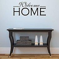 Welcome Home Hallway Wall Sticker - Black Decor, Wall, Wall Decals, Wallstickers, Hallway Walls, Interior, Interior Decorating Styles, Home Decor, Wall Stickers
