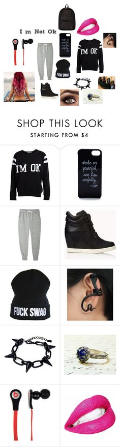 """Lyric's Outfit Chapter 11"" by lyric-denali ❤ liked on Polyvore featuring Pieces, Diane Von Furstenberg, Sacai Luck, Forever 21, Beats by Dr. Dre, Porter, women's clothing, women, female and woman"