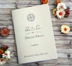 Libretti messa nozze #matrimonio #wedding happymel'scrap Melania Bertin