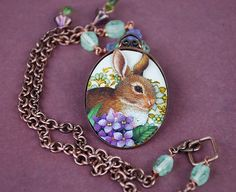 rabbit tin shadowbox necklace  by pinkhare, via Flickr