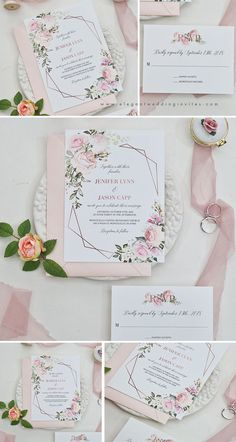 Excellent Screen geometric blooms-pink florals and geometric pattern invitation with blush shimmer laser cut fold Tips Wedding Invitation Cards-Our Methods Once the day of one's wedding is set and the Site is booked, Traditional Wedding Invitations, Creative Wedding Invitations, Personalised Wedding Invitations, Laser Cut Wedding Invitations, Beautiful Wedding Invitations, Pink Invitations, Watercolor Wedding Invitations, Floral Invitation, Wedding Invitation Design
