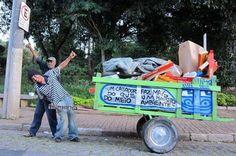 Catadores buscam customizar carroças por meio de financiamento coletivo