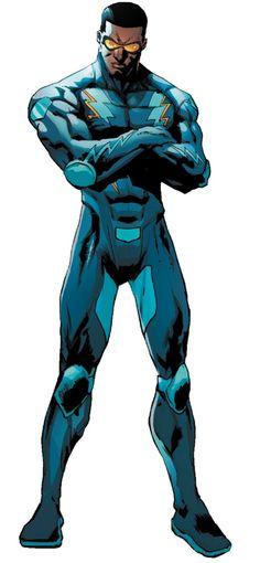 Comic Character, Character Design, Super Hero Games, Superhero Pictures, Astronaut Tattoo, Dc Comics Superheroes, Black Lightning, Superhero Design, Dc Heroes