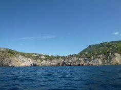 Nave, Sant'Angelo→La Baia di Sorgeto (Terme), Isola Ischia Italia (Maggio)