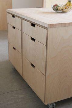 Plywood kitchen island