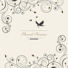 Fondo floral ornamental
