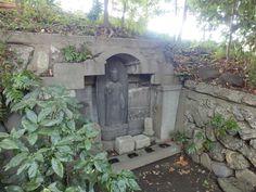 Jizo(ksitigarbha)(Japanese, お地蔵さん) of Kiyosumi Gardens(Japanese, 清澄庭園) in Tokyo, Japan in September 2013.