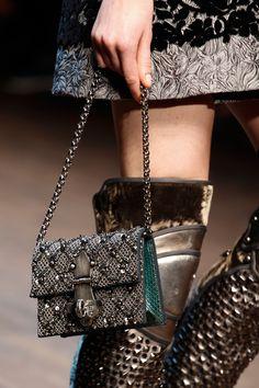 Dolce & Gabbana Fall 2014 RTW - Runway Photos - Fashion Week - Runway, Fashion Shows and Collections - Vogue Dolce & Gabbana, Handbag Accessories, Fashion Accessories, Fashion Brands, Dior, Embellished Shoes, Stefano Gabbana, Pamela, Fall Winter 2014