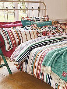 Deckchair stripe bed linen