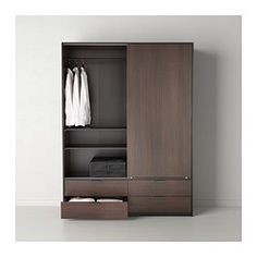 TRYSIL Wardrobe w sliding doors/4 drawers - IKEA