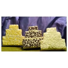 Alternative to a chocolate groom's cake: Rice Krispy Treats iced with fondant or chocolate
