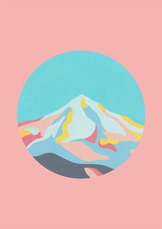 Mountainscape in Dusty Pink by The Adventures Of Co.