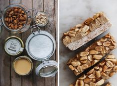 Domácí tyčinky Snickers (téměř raw)   Děvče u plotny Dairy, Cheese, Crafts, Food, Manualidades, Meals, Handmade Crafts, Diy Crafts, Craft