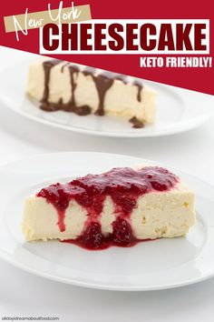 rich and creamy New York Style keto cheesecake is heaven on a plate. Top with sugar-free berry sauce or some of my low carb hot fudge sauce. Only 7 ingredients and TOTAL carbs! Best Low Carb Recipes, Low Carb Dinner Recipes, Sugar Free Recipes, Low Carb Desserts, Keto Recipes, Dessert Recipes, Turkey Recipes, Lunch Recipes, Baking Recipes