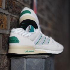This week's #kickoftheweek: the ZX 710. Aggressive, yet sleek, these #adidasOriginals are reissued in their original colourway for the first time since their release in 1984.