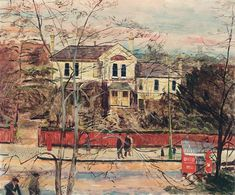 'A Street in Putney' by Carel Weight, 1949 (oil on canvas)