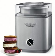 What's better than a quart of luscious homemade ice cream, sorbet, or frozen yogurt? Two quarts!This fully automatic Cuisinart Pure Indulgence automatic ice cream, frozen yogurt, and sorbet maker makes 2 quarts of your favorite frozen desse Ice Cream Maker Reviews, Best Ice Cream Maker, Sorbet Ice Cream, Yogurt Ice Cream, Whipped Cream, Frozen Desserts, Frozen Treats, Summer Desserts, Frozen Yogurt Maker