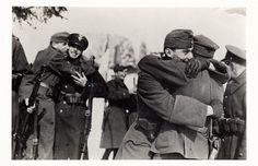 Polish-Hungarian friendly encounter on the recaptured thousand year border.  Verecke 16.03.1939  http://followmyfreedom.wordpress.com/2013/03/25/polish-hungarian-brotherhood-23-03-2013/#