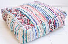Moroccan kilim pouf  berber