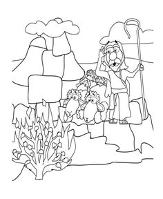 coloring pages moses burning bush To see the fullsize version