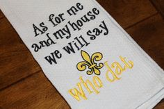 One New Orleans Saints Who Dat monogrammed by annabeesdesign, $12.00