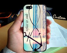 Anchor Infinity I refuse To Sink  - Photo Hard Case design for iPhone 4/4s Case, iPhone 5 Case, Black or White ( Choose Option )