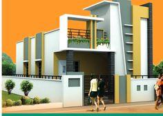 ABHomes Hyderabad Real Estate Developers Her Crochet mahesh saini House Front Wall Design, Single Floor House Design, Duplex House Plans, Bungalow House Design, Small House Design, Modern House Plans, Modern House Design, Modern Houses, Tiny Houses