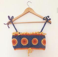 Sewing Clothes, Crochet Clothes, Diy Clothes, Crochet Crafts, Crochet Projects, Sewing Projects, Crochet Crop Top, Knit Crochet, Hippie Crochet