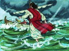 3.+Jesus+Walks+on+water+%23Biblefun.JPG (309×227)