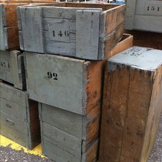 love old wood boxes and crates...I so want some of these :)