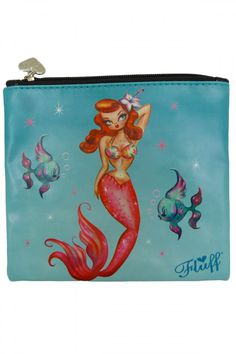 Look what I found on Tropical Mermaid Flat Cosmetic Bag by Fluff 86b75e1c1b97c
