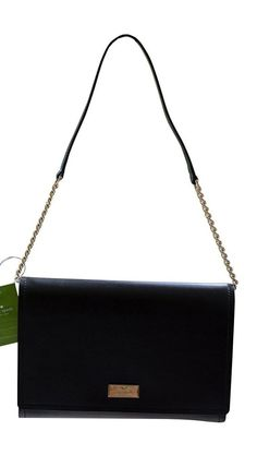 Kate Spade New York Arbour Hill Angelea Leather Shoulder Bag, Black/Pink, NEW  | eBay