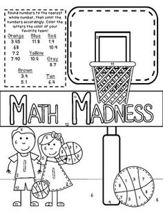March Madness Junior Bracket and Basketball Activities for