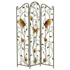 Butterfly Garden Room Divider - Floor Screens, Room Dividers ...