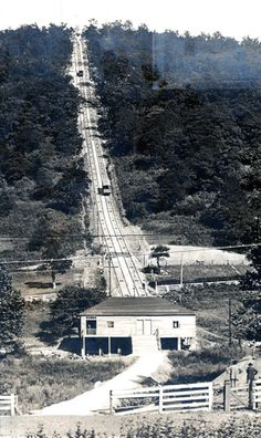 Mill Mountain Incline in Roanoke, VA. Circa 1920s.