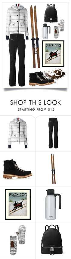 """""""let's go skiing!"""" by art-gives-me-life ❤ liked on Polyvore featuring Moncler Grenoble, Rossignol, Montelliana, L.L.Bean, 14th & Union, MICHAEL Michael Kors, contestentry and colorqueens"""