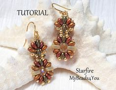 Items similar to Beading Tutorial - Beading Pattern - Beaded Earring Instructions - Earring Tutorial - Earring Pattern - How to Bead Jewelry - on Etsy Seed Bead Tutorials, Beading Tutorials, Beading Projects, Beaded Jewelry Patterns, Beading Patterns, Etsy Jewelry, Jewelry Gifts, Jewelry Ideas, Jewellery