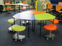 Cool alternative to regular tables for lunch and writing!