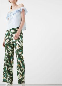 Tropical print trousers | MANGO