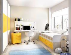 F_79 Habitación juvenil práctica, sencilla y elegante. Adaptada y diseñada para espacios reales. Habitaciones Juveniles diseñadas para la vida real. http://rimobel.es/index.php/es/rimobel/mundo-joven