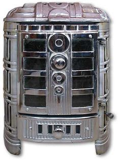 s127 deco stove an art deco front loading wood stove