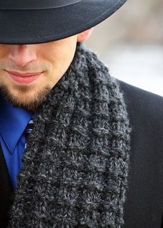 Free knit pattern for boyfriend scarf