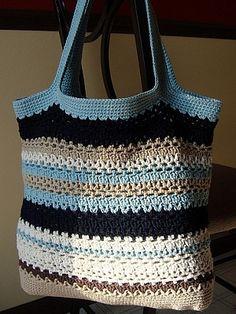 crochet pattern - lacy v tote