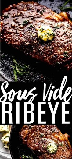 Learn how to make the PERFECT Sous Vide Ribeye Steak. With a timing chart for the perfect rare medium or well done steak plus a delicious compound butter to top it with.// recipe // temperature // time // medium rare // how to cook Beef Bourguignon, Steaks, How To Cook Ribeye, Steak Temperature, Rib Eye Recipes, Beef Steak Recipes, Compound Butter, Perfect Steak, Sous Vide Cooking