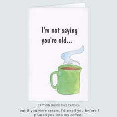 'birthday coffee' greeting card