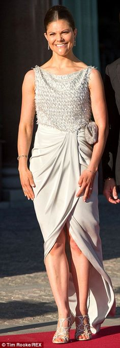 Looking good: Crown Princess Victoria of Sweden