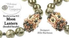 """ Moon Lantern "" Beaded Beads"