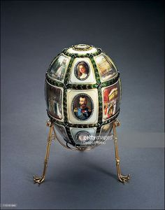 Works of art by Carl Faberge from the Forbes collection in New York, United States on November 26, 2002 - Fifteenth Anniversary Egg -   (Photo by David LEFRANC/Gamma-Rapho via Getty Images)
